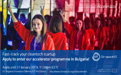 The application for Climate-KIC Accelerator Bulgaria 2019 is open!