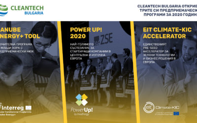 THE THREE ENTREPRENEURSHIP PROGRAMMES OF CLEANTECH BULGARIA ARE OPEN FOR APPLICATIONS!